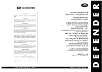 Split Charge, Kit-towing electrics, Type S Fitting Kit Instructions - page 1