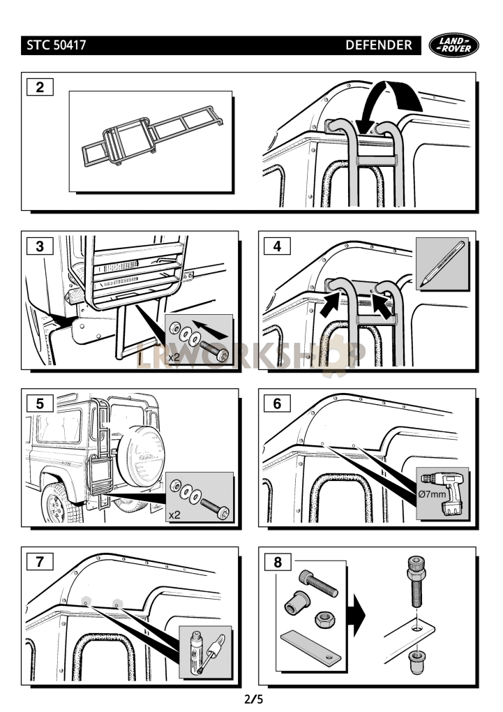 tracklander roof rack fitting instructions