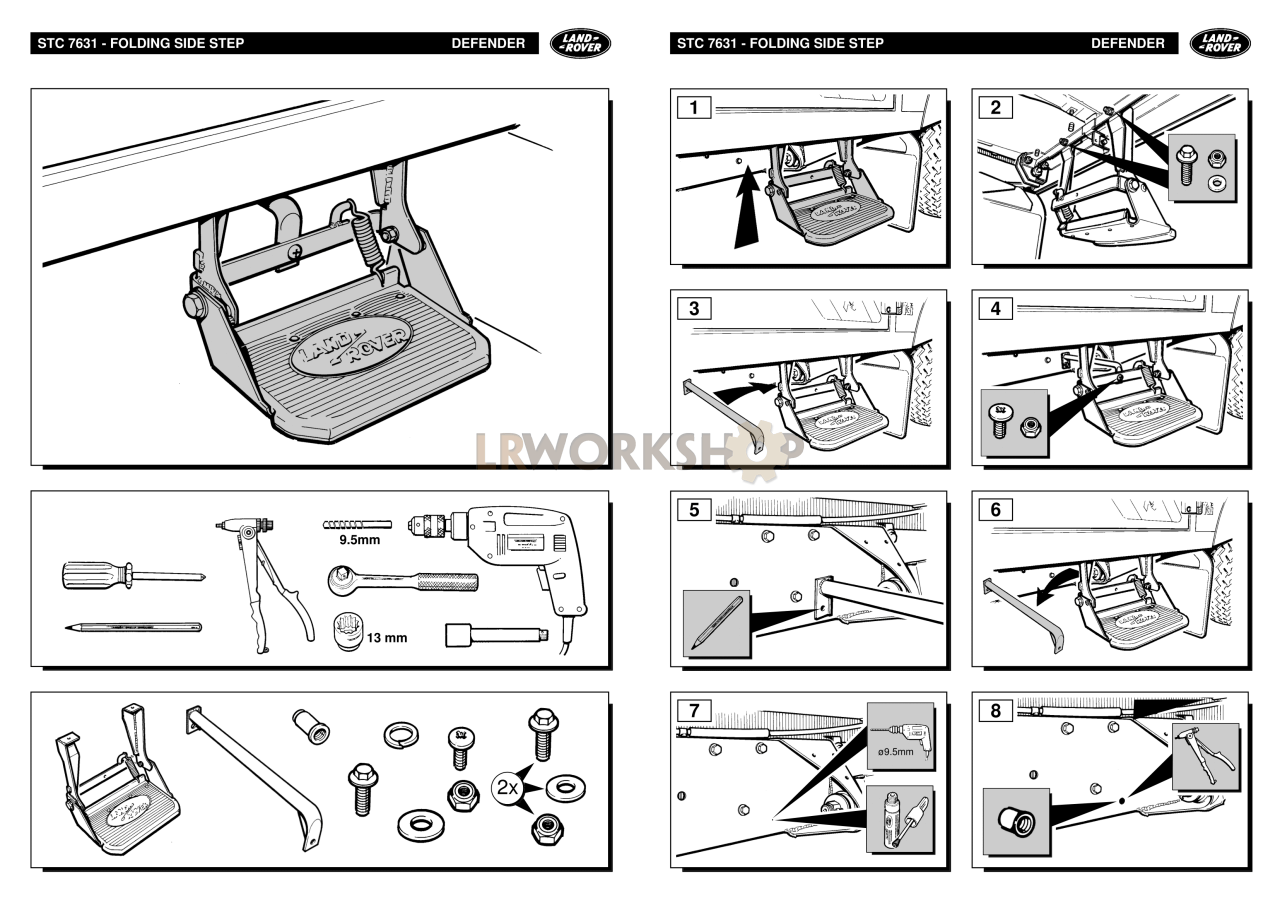 Stc7631 Step Assembly Side Black Accessory Find Land Rover Fuse Box Connector Part Numbers Fitting Kit Instructions