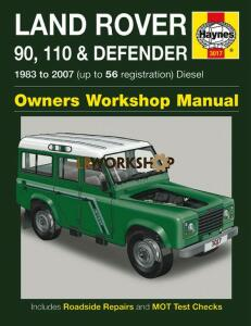 Haynes Defender Workshop Manual 1983 - 2006