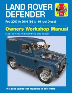 Haynes Defender Workshop Manual 2.4 Tdci / 2.2 Tdci 2007 - 2016