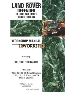 Land Rover Defender Petrol and Diesel Workshop Manual 1993 1995