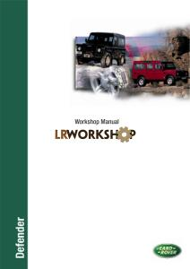 Land Rover Defender NAS 90 1997 Workshop Manual