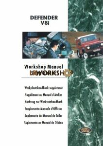 Land Rover Defender 50th V8i Workshop Manual